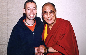 Changemaker Adam Yauch with His Holiness the Dalai Lama